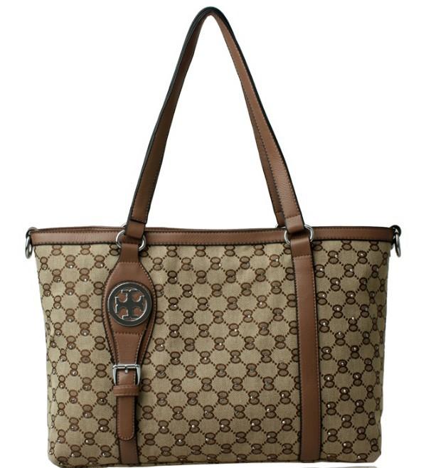 On sale Free Shipping Women's fashion canvas leather designer handbag ladies brand job shoulder bags handbags designers brand(China (Mainland))