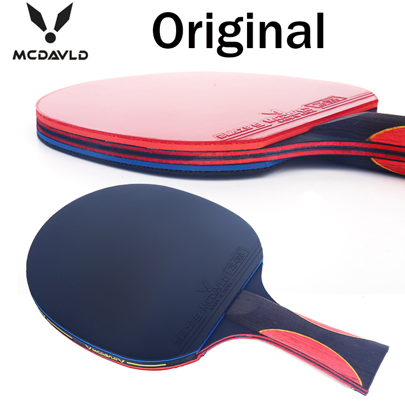 Best quality carbon bat table tennis racket rubber pingpong paddle short handle rackt long offensive - J K Mall store