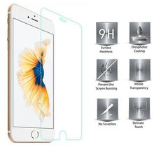 30pcs/lot 0.26mm Clear 9H 2.5D Anti-scratches Bubble Free Tempered Glass Film Screen Protector For iPhone 7 7 Plus