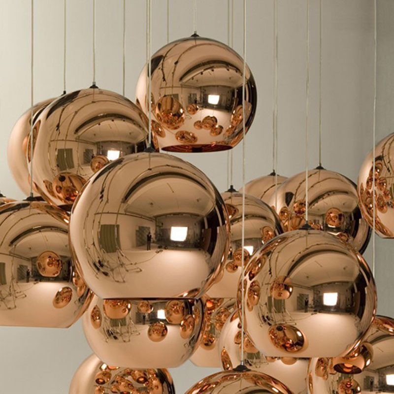 E27 Bulb LED Pendant Lamp Mirror Glass Ball Bubble Modern Classic Fashion Gold / Silver / Bronze color Christmas Light Fixture(China (Mainland))