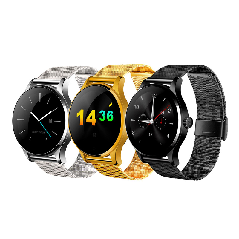 Round Dial Bluetooth Smart Watch K88H Pedometer Heart Rate Monitor Remote Camera Clock for IOS Android Phone(China (Mainland))