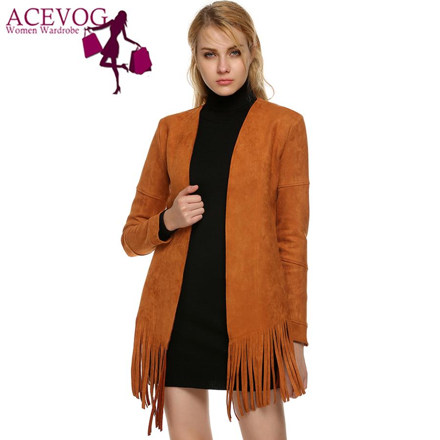 ACEVOG Brand Women Cardigan Jacket Fashion 2016 2017 Long ...