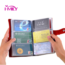 New 90 Card Places Card Holder Leather Bank Credit Pack Cowhide Card Protector Business Card Bag Big Capacity Best Gifts Solid(China (Mainland))