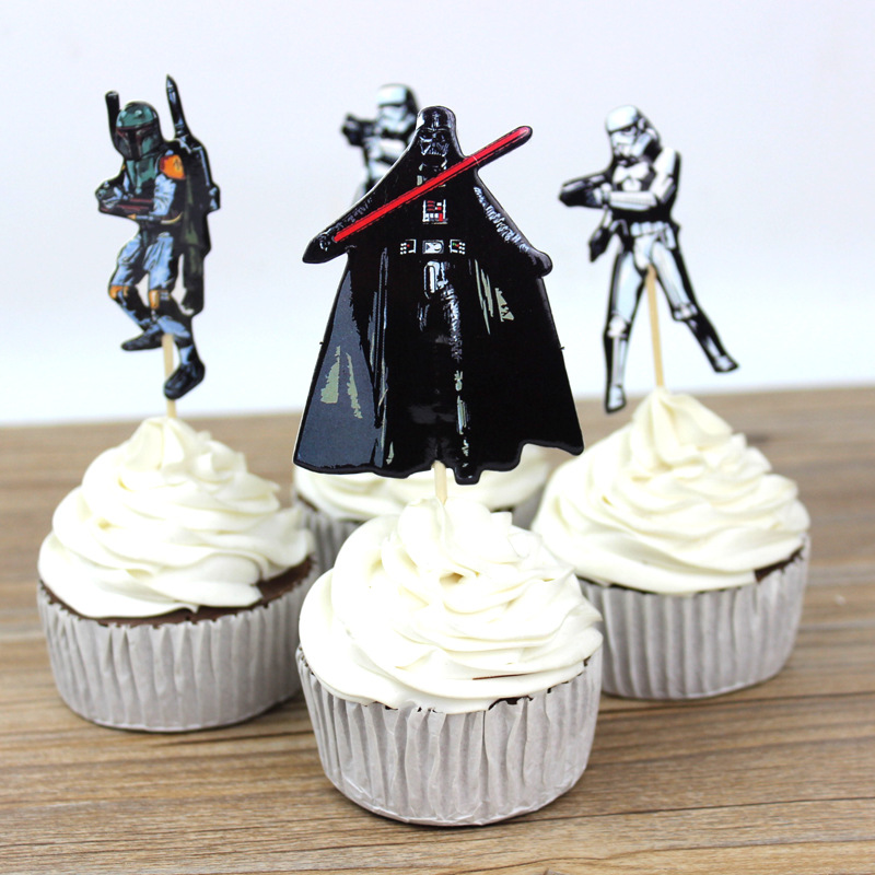 24 pcs The Star Wars Cupcake Toppers Cake Party Decorations Festive Holiday Event And Kids Birthday Party Favors Supplies(China (Mainland))