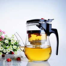 NEW style 500ml disassemble glass kettle with washable PC inner filter, elegant glass tea set, detachable and convenient tea pot