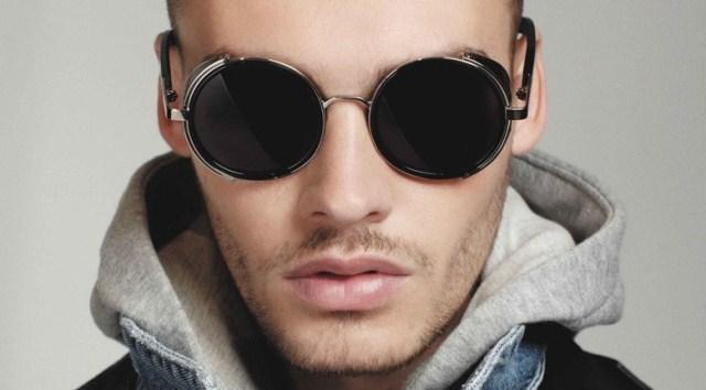 Circle Sunglasses Mens  online vintage steampunk designer sunglasses side visor