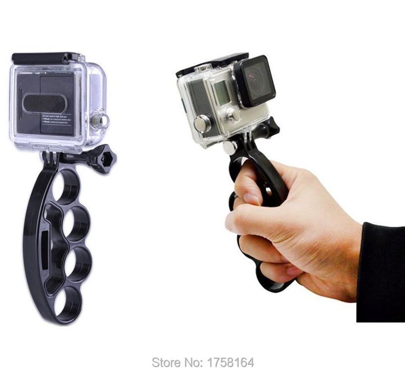 Handheld Knuckles Fingers Monopod Stick Mount Adapter for Gopro Hero 4 3 Xiaomi Yi Sjcam Sj4000 Accessories