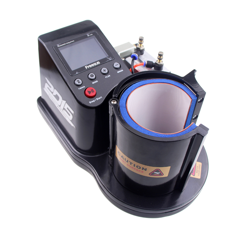 Free shipping by DHL 2016 Mini Pneumatic Vertical Multi-function Heat Transfer Press Thermal Printing Mug Cup Machine ST110(China (Mainland))