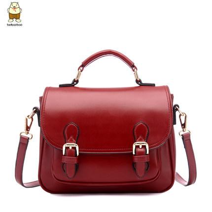 Brand new solid pu leather vintage london womens handbags designer elegant preppy fashion messenger bags for women crossbody bag(China (Mainland))