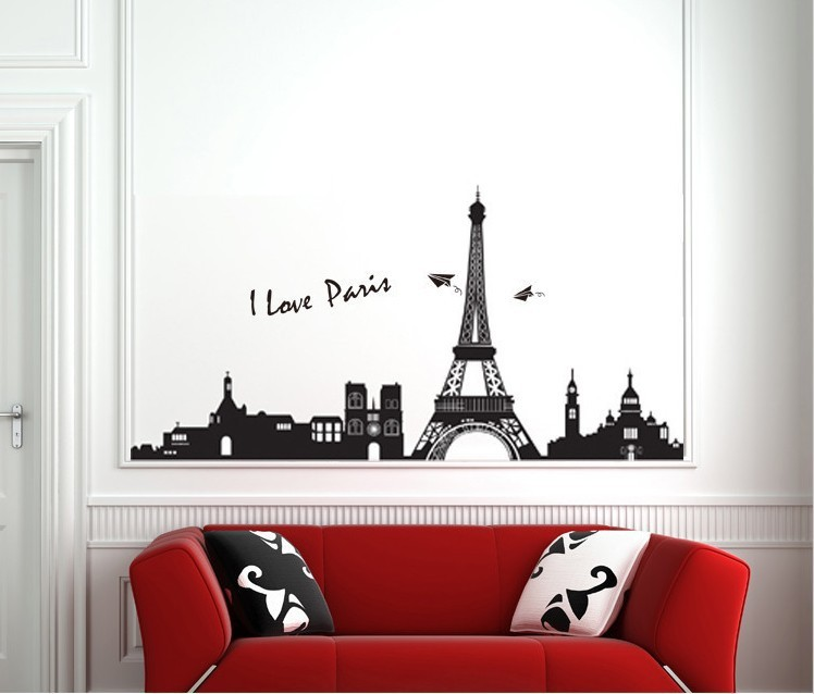 Comhome Decor Factory : factory Paris Tower Romantic Wall Poster Wall Mural Home Decor ...