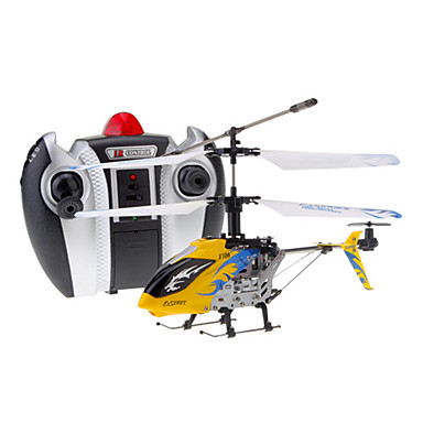 DFD F106 4CH RC Helicopter with Gyro & Light (Yellow)(China (Mainland))