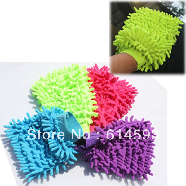 Microfibre Super Mitt Cleaner Gloves Cloth Neil Fiber Car Wash Glove Towel TV/Glass/PC/Fitting Cleaning Care Experts(China (Mainland))