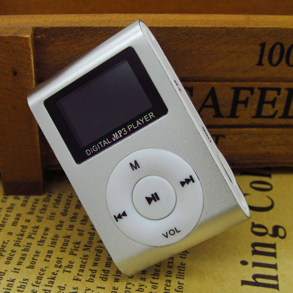 Sport MP3 Music Player with LCD Screen Metal Mini Clip Metal Multicolor Portable MP3 Player With