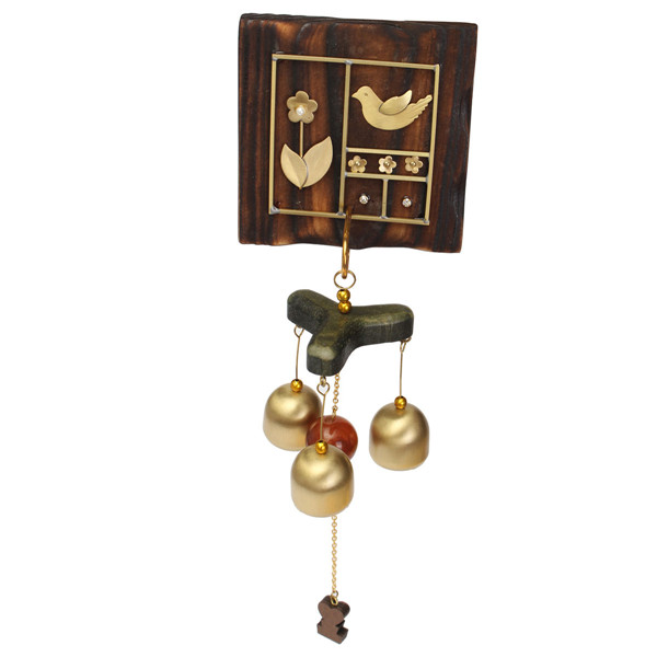 High Quality Wind Chime Copper Wood Yard Garden Ornament Flower Bird Outdoor Living Decortion(China (Mainland))