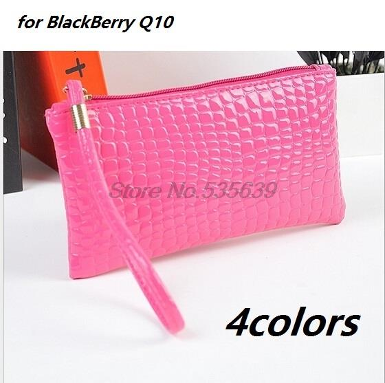 Luxury Fashion Slim lattice Pouch Wallet PU Leather Case for BlackBerry Q10(China (Mainland))