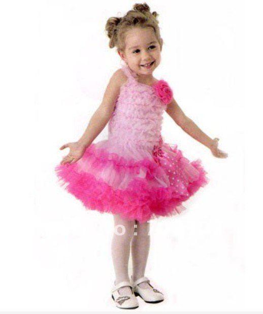 2013 Children dancing dress mix 5size, girl slip dress , flower kid's dress free shipping v-158(China (Mainland))