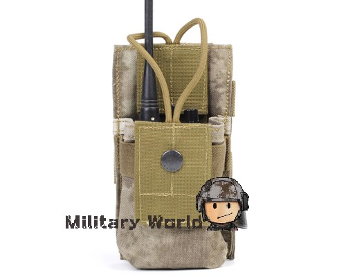 4 Colors Airsoft Tactical 1000D High Quality Nylon Molle Radio Magazine Accessory Pouch Military Radio Pouch CB/AOR1/A-TACS FG(China (Mainland))