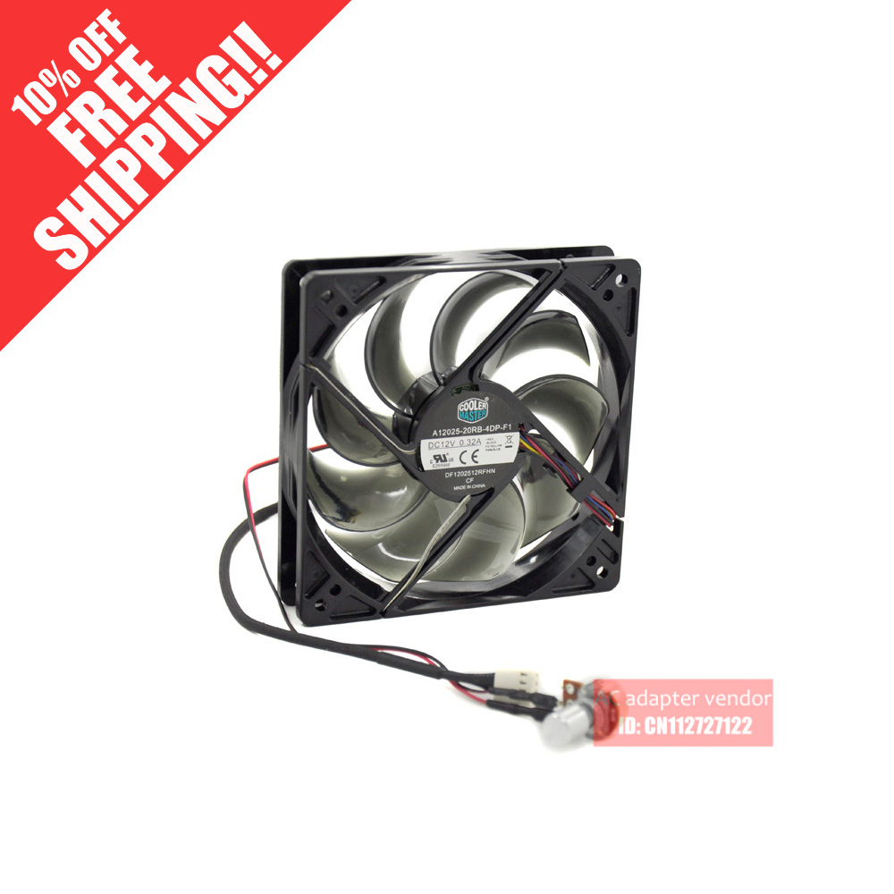 new Cooler Master CPU 12cm silence 4 wire PWM cooling fan(China (Mainland))
