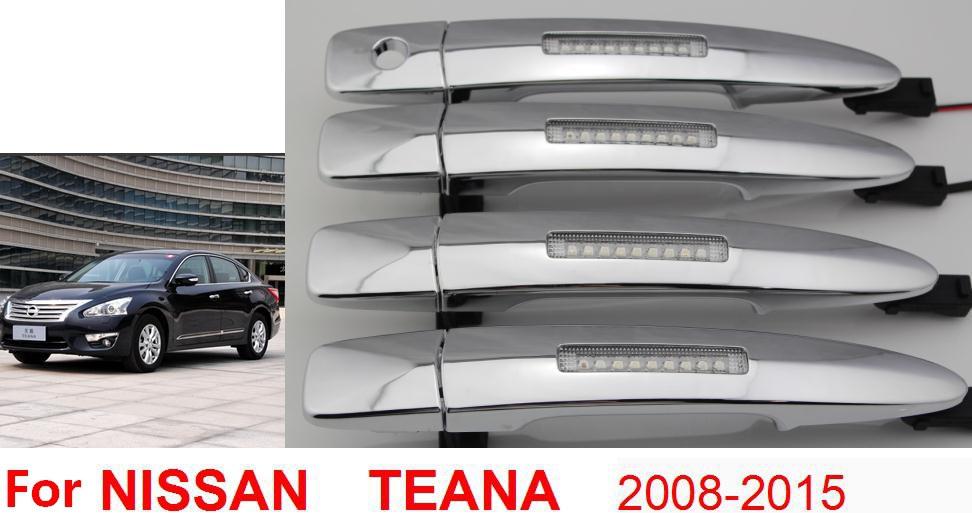 Replacement Parts for nissan teana altima maxima out side door led handles with daytime running flash Turning lamps lights(China (Mainland))