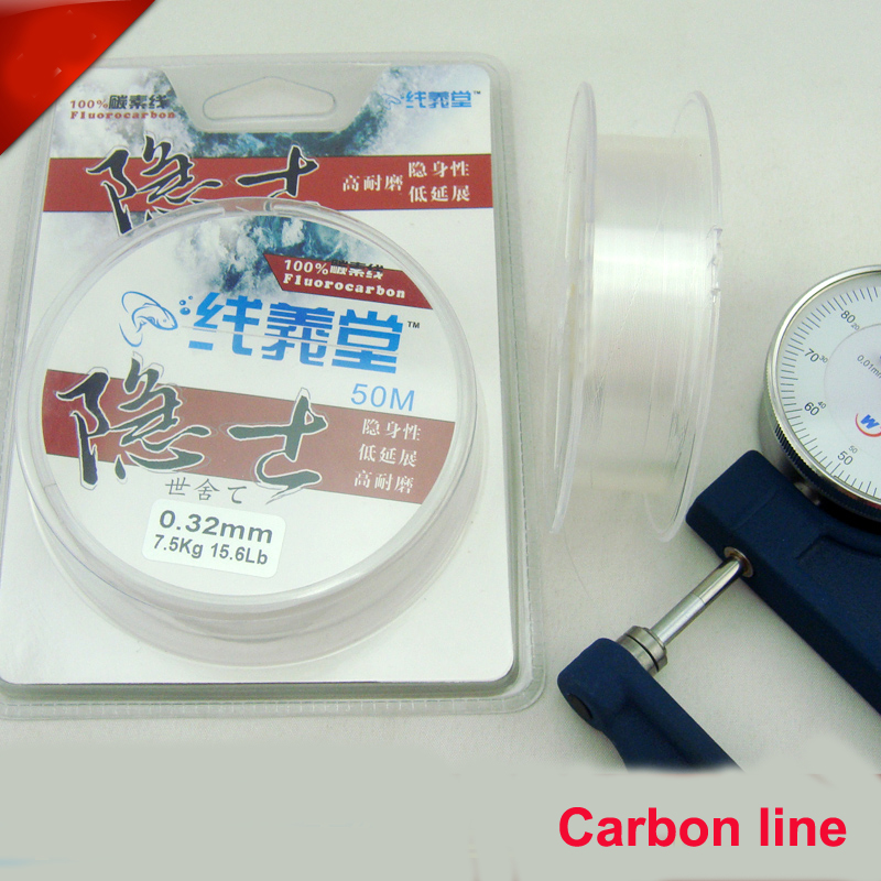 2015Brand Japan Import Material 50M Leader Line 100% Fluorocarbon Fishing Line 0.15mm - 0.47mm 4 5 7 9 11 13 14 16 20 24 28 32LB(China (Mainland))