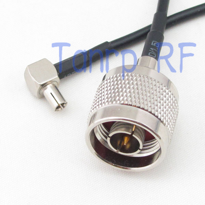 6in N male plug to TS9 male plug right angleRF connector adapter 15CM Pigtail coaxial jumper