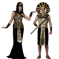 2017 Men Egyptian Pharaoh Costume Gold Outfit Helios Royal King Cleopatra Accessories Halloween Carnival Cosplay Hot