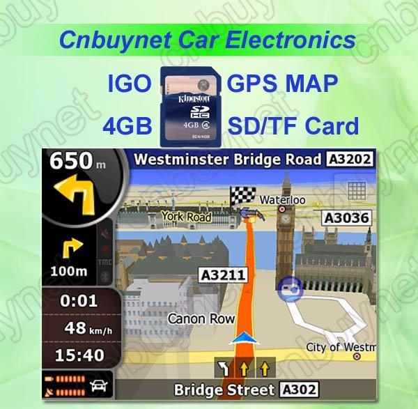SD/TF memory card with car IGO GPS map-free shipping