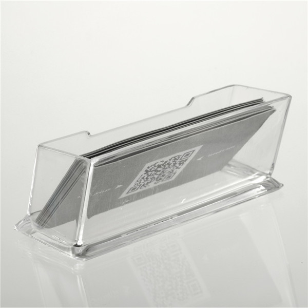 1pc Clear Acrylic Business Card Holder Display Stand Desk Desktop Countertop Newest(China (Mainland))