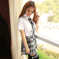 New sexy lingerie hot Seductivesexy school uniform for girls crop top and skirt fantasias erotic