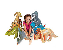 2015 Hot Sale Rushed Pvc Inflatable Dinosaurs 6 pcs Set Infant Toys Child Animal Toys for Children Gift Stage Props(China (Mainland))