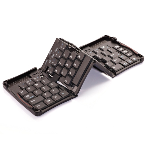 Free Shipping Wireless Folding Bluetooth Keyboard for Apple iPhone iPad Black #gib(China (Mainland))