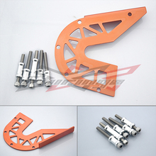 FREE SHIPPING Orange Front Guard Chain Cover For KTM DUKE 125 200 2012-2013(China (Mainland))