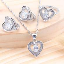 Bridal Rainbow Zirconia Silver 925 Jewelry Sets Costume Kids Jewelry For Women Wedding Ring Earrings Necklace Set Jewellery(China)