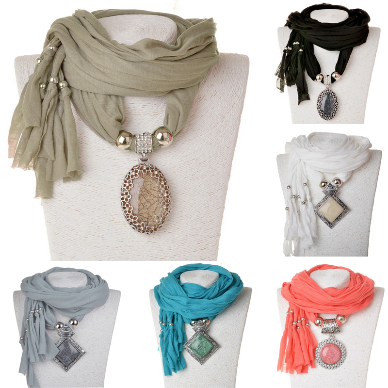 New Arrival 2015 Fashion Party Women Scarf Neck Wrap Necklaces Jewelry Luxury Feminina Warm Scarf Necklace For Women(China (Mainland))
