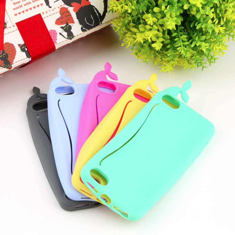 2015 Hot Cute lovely New desing phone bag handbag Big Mouth Whale Rubber Card Holder Soft antiknock Case Cover for iPhone 5 5S(China (Mainland))