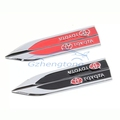 Car modificated accessories 2 X Car Side Fender Skirts Knife Type Sticker Badge auto decal Emblems