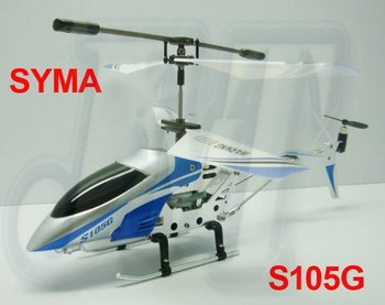 SYMA S105G RTF 3CH GYRO mini RC alloy helicopter Free shipping