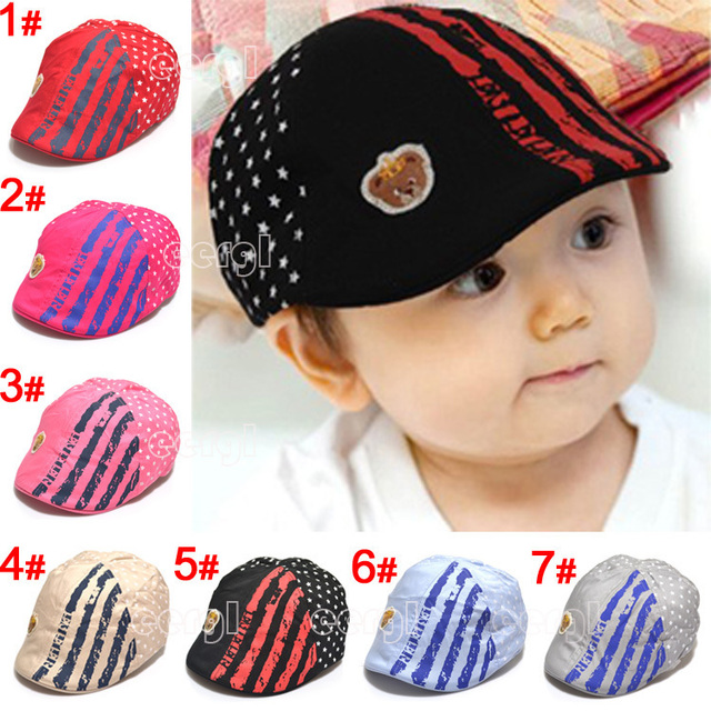 2013 Cute Kid Toddler Infant Boy's Baby Girls Hat Casquette Peaked Baseball Beret Cap Free Shipping