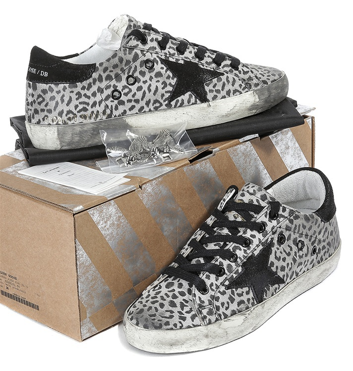 2015 New Italy Deluxe Brand Golden Goose GGDB Sneakers,Fashion Handmade Men Womens Original Box Leopard Shoes,Size EUR 34-46<br><br>Aliexpress