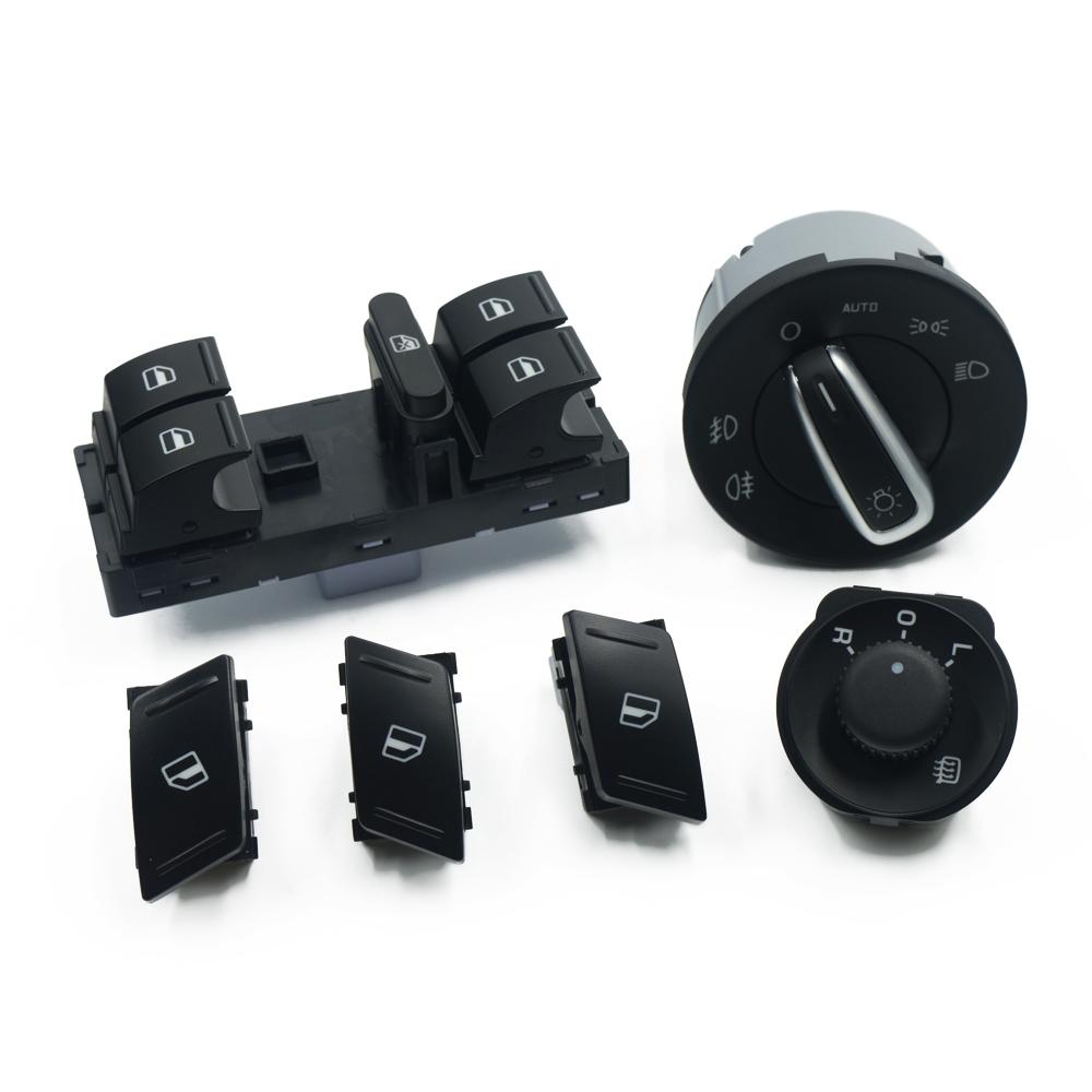 For SKODA Octavia MK2 II 1Z Master Electric Power Window Headlight Side Mirror Switch Button 6PCS/SET 1Z0959858B 1Z0 941 431K<br><br>Aliexpress