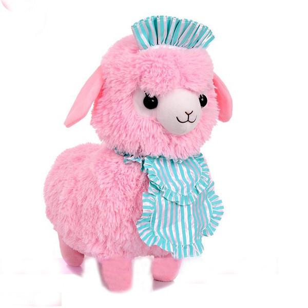 45CM Adora Doll Coffe Shop Waiter Japan Alpaca Plush Doll Boneca Peluches Alpacasso Yellow White Pink Color Sheep Stuffed Toy(China (Mainland))