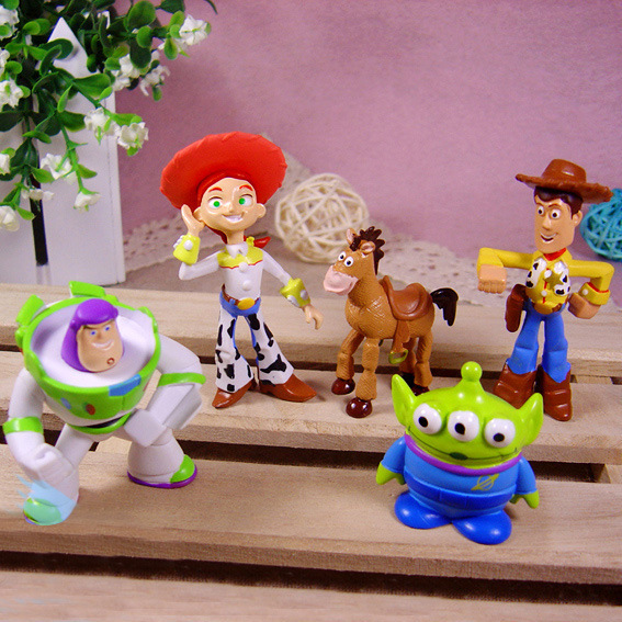 Anime Toy Story 3 Woody Jessie Buzz Lightyear Keychain Model Pvc Action Figures Classic Toys Kids Gift Boys Girls Children - Store store