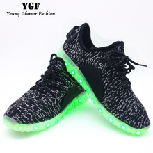 LED Light up Shoes for Adults 2016 New Fashion Colorful Luminous Shoes with USB Rechargeable Women Men Shoes with LED Lights(China (Mainland))