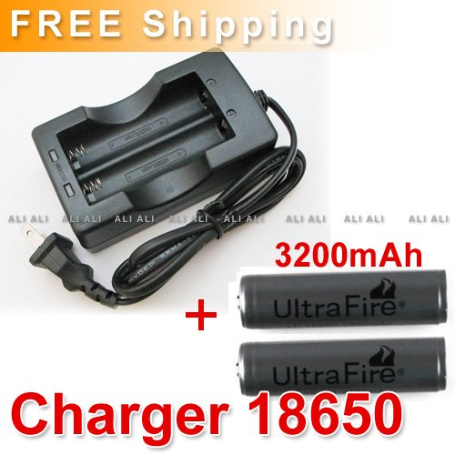 2X18650 3000mAh RECHARGEABLE Battery 3.7v + AC Charger NEW - Ali Ali's store