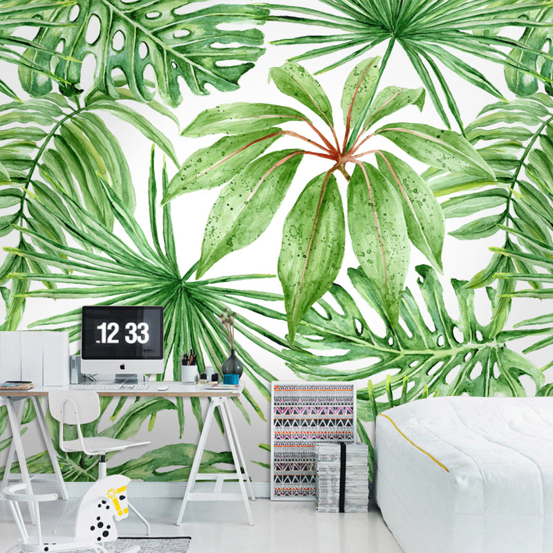 Online get cheap discount wallpaper for American tropical mural