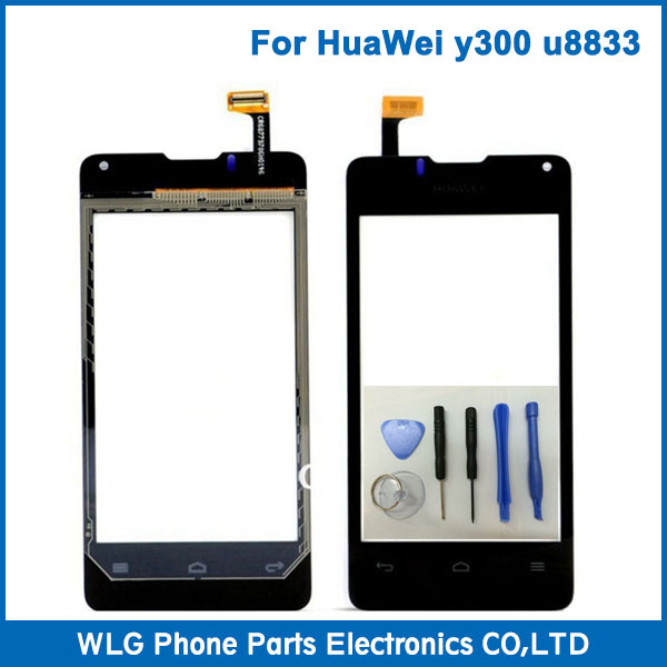 Original For Huawei Ascend Y300 U8833 T8833 Front Glass+Flex Cable Replacement Phone Touch Screen Panel Digitizer Display +Tools(China (Mainland))