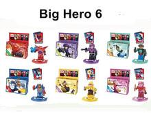 6pcs/set Big Hero 6 Baymax Hiro Hamada Fred Building Bricks Blocks Education Toys Compatible with Legominifigure(China (Mainland))