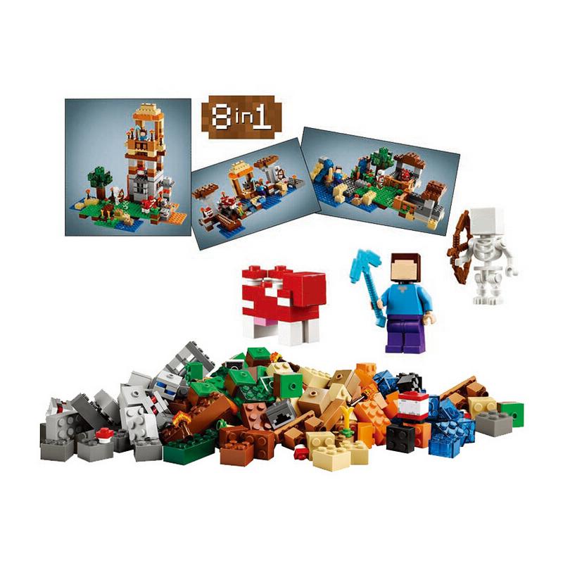 LELE/BELA My world Minecraft 8in1 Crafting Box 526pcs Building Blocks Bricks For Children Gift Kids Toys Legoegoly<br><br>Aliexpress