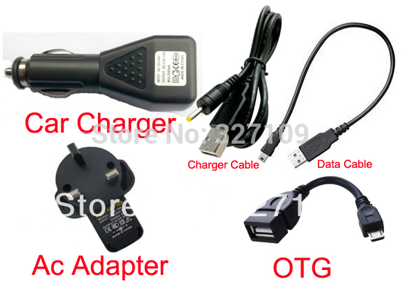 """UK Plug Wall Charger Adapter 5V 2A + DC Car Charger USB Port + Data Cable for Android 4.0 Tablet PC 7"""" 9'' 10.2"""" Superpad(China (Mainland))"""