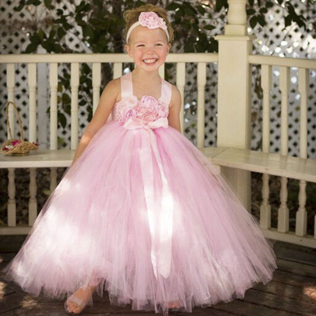Buy blush pink flower girl dress with for Wedding dress with red ribbon on waist